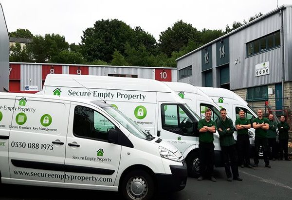 Secure empty property employees and vans