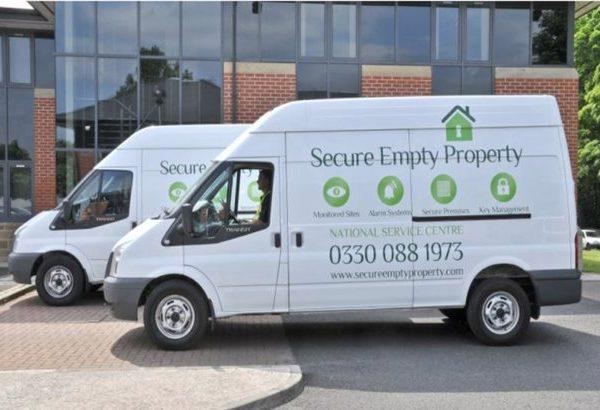 Secure empty property vans